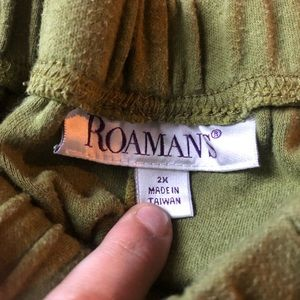 Roaman's Pants - Roaman's Size 2X Green Lounge Stretch Pants